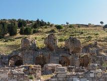 Rovine antiche di vecchia città greca di Ephesus Fotografia Stock Libera da Diritti