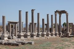 Rovine antiche Perge Turchia Fotografia Stock Libera da Diritti