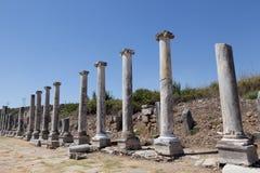 Rovine antiche Perge Turchia Fotografie Stock Libere da Diritti