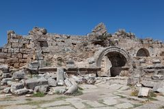 Rovine antiche Perge Turchia Immagine Stock Libera da Diritti
