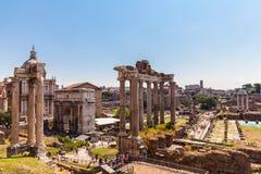 Rovine antiche a Roma Immagine Stock
