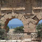 Rovine antiche in Tolemaide Fotografia Stock Libera da Diritti