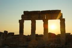 Rovine dal tramonto Fotografia Stock Libera da Diritti