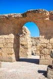 Rovine dei bagni di Antonine a Carthage, Tunisia Fotografie Stock Libere da Diritti