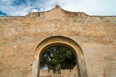 Rovine dei bagni di Diocletian a Roma Fotografia Stock