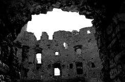 Rovine del castel di Ogrodzieniec Fotografia Stock Libera da Diritti