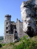 Rovine del castello Immagine Stock