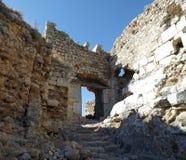 Rovine del castello Bechin Milas Turchia Fotografie Stock