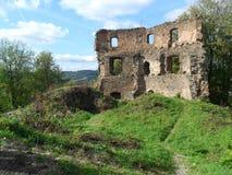 Rovine del castello Cimburk Fotografie Stock