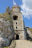 Rovine del castello del castello medievale di Ogrodzieniec Fotografia Stock Libera da Diritti