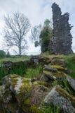 Rovine del castello di Ascog Fotografia Stock