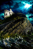 Rovine del castello di Ballibunion Fotografie Stock Libere da Diritti