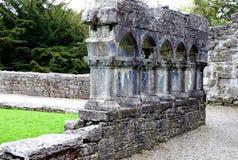 Rovine del castello di Cong, Irlanda immagine stock