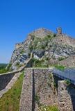 Rovine del castello di Devin. Bratislava, Slovacchia Immagini Stock