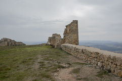 Rovine del castello di Gormaz Fotografie Stock