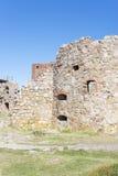 Rovine del castello di Hammershus Fotografie Stock