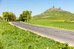 Rovine del castello di Hazmburk Fotografia Stock Libera da Diritti