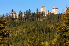 Rovine del castello di Kasperk Fotografie Stock