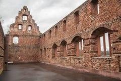 Rovine del castello di Limburgo Immagine Stock