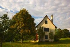 Rovine del castello di Neu-Schauenburg, Frenkendorf Fotografie Stock Libere da Diritti