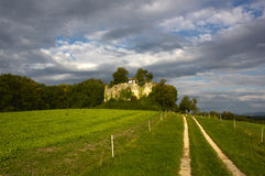 Rovine del castello di Neu-Schauenburg, Frenkendorf fotografia stock