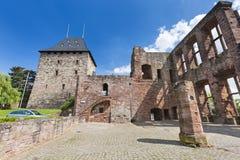 Rovine del castello di Nideggen in Germania, editoriale fotografia stock libera da diritti