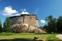 Rovine del castello di Raseborg fotografia stock