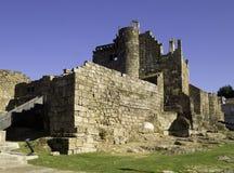 Rovine del castello di Ribadavia Fotografia Stock Libera da Diritti