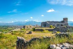 Rovine del castello di Rozafa immagini stock libere da diritti
