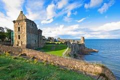 Rovine del castello di St Andrews Fotografie Stock