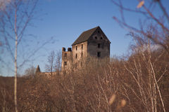 Rovine del castello di Swiny in Polonia Fotografia Stock