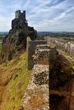 Rovine del castello di Trosky, repubblica Ceca Fotografie Stock