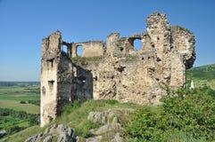 Rovine del castello di Velky Kamenec Fotografia Stock Libera da Diritti