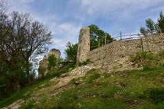 Rovine del castello di Vinné Fotografia Stock Libera da Diritti