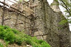 Rovine del castello di Vinné Fotografia Stock