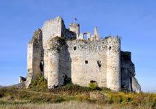 Rovine del castello di Zamek Mirow, Polonia Immagini Stock