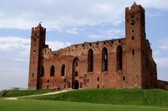 Rovine del castello gotico Fotografie Stock