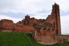 Rovine del castello gotico Fotografia Stock Libera da Diritti