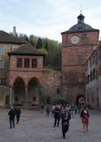 Rovine del castello a Heidelberg Fotografia Stock