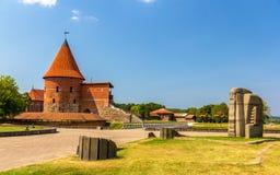 Rovine del castello a Kaunas fotografia stock libera da diritti