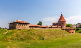 Rovine del castello a Kaunas immagini stock