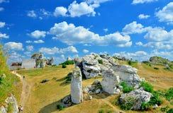Rovine del castello medievale Fotografie Stock Libere da Diritti