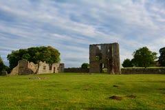 Rovine del castello medievale, castello di Baconsthorpe, Norfolk, Regno Unito immagine stock libera da diritti