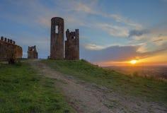 Rovine del castello Montemor-o-Novo immagini stock