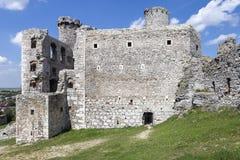 Rovine del castello Ogrodzieniec - Polonia Fotografie Stock Libere da Diritti