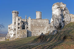 Rovine del castello in Ogrodzieniec, Polonia Immagine Stock Libera da Diritti