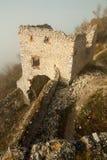 Rovine del castello plavecky del hrad Fotografia Stock
