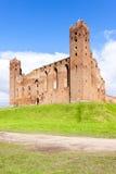 Rovine del castello in Radzyn Chelminski Fotografia Stock