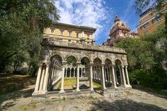 Rovine del convento di St Andrew, Genova fotografia stock libera da diritti