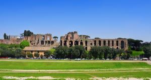 Rovine del Domus Augustana sulla collina del palatino a Roma, Italia Immagine Stock